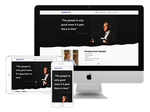 Our web design company did this website for a public speaker.