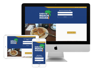 Our web design company did this website for a restaurant.